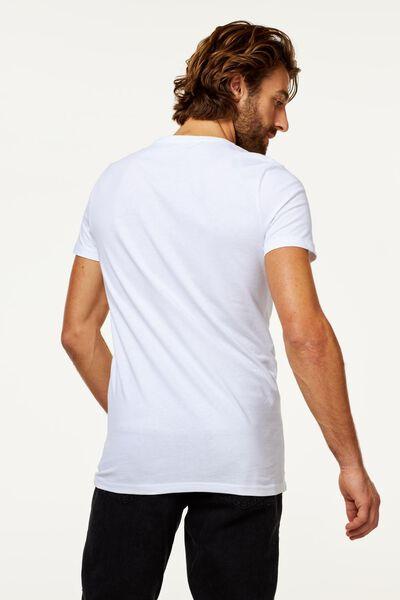 2-pak heren t-shirts wit XL - 34277066 - HEMA