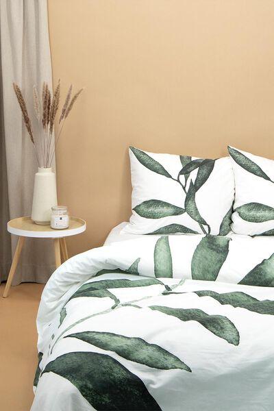 dekbedovertrek - zacht katoen - bladeren wit wit - 1000021831 - HEMA