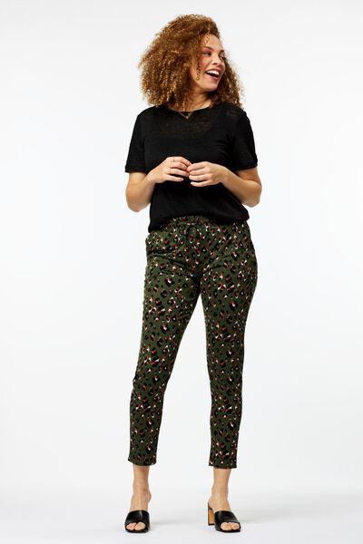dames t-shirt linnen zwart - 1000024254 - HEMA