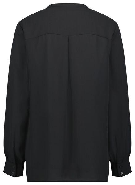 damesblouse zwart zwart - 1000022494 - HEMA