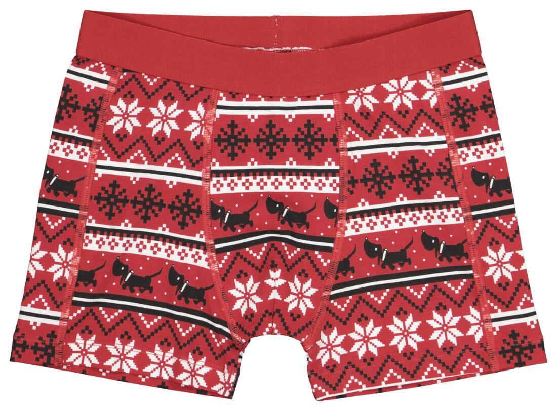 HEMA Kinderboxer Kerst Takkie Rood (rood)
