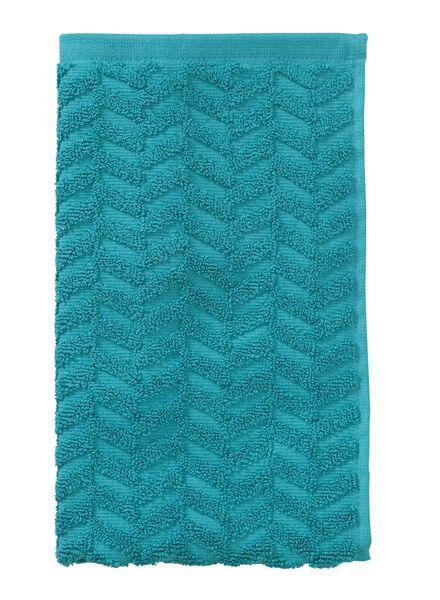gastendoek - 30 x 55 cm - zware kwaliteit - donkergroen zigzag donkergroen gastendoekje - 5200062 - HEMA