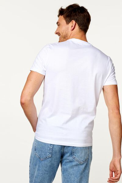 heren t-shirts - 2 stuks wit wit - 1000009943 - HEMA