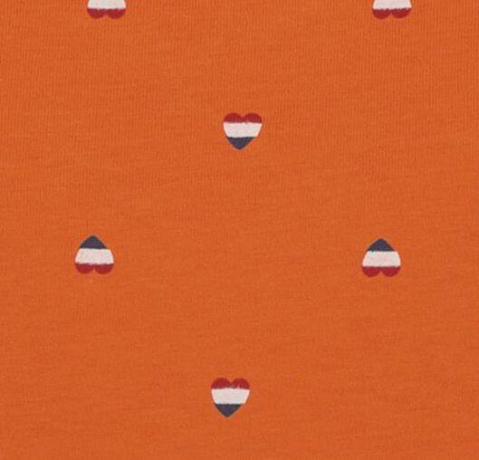 dames t-shirt oranje oranje - 1000019579 - HEMA
