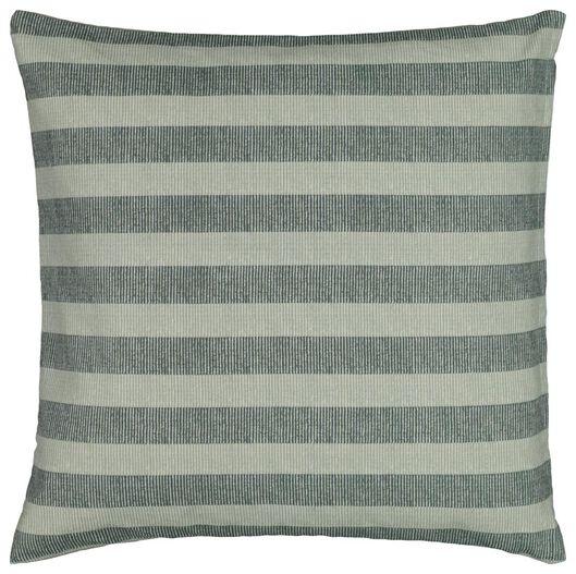 kussenhoes - 50x50 - streep - groen/wit - 7320022 - HEMA