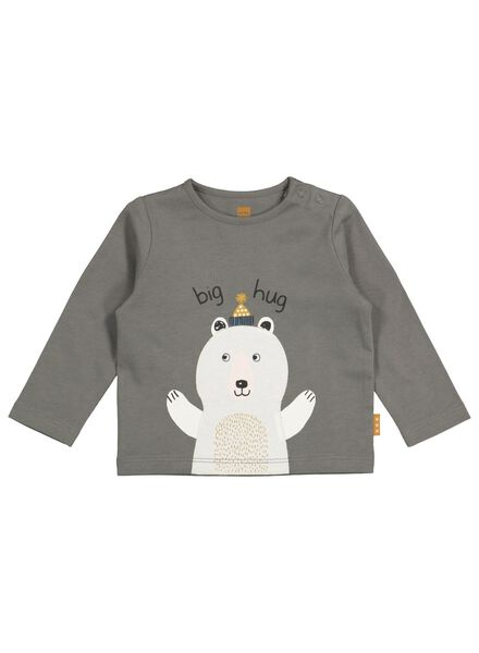 newborn t-shirt grijs grijs - 1000016917 - HEMA