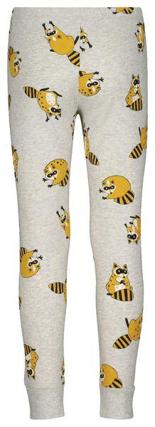 kinderpyjama met bamboe - wasbeer grijsmelange 110/116 - 23000302 - HEMA