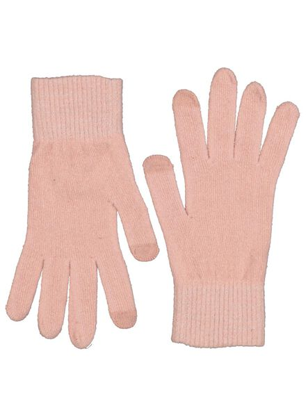 dameshandschoenen touchscreen roze roze - 1000015532 - HEMA