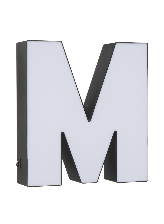 HEMA Lichtbox Letter M (noir/blanc)