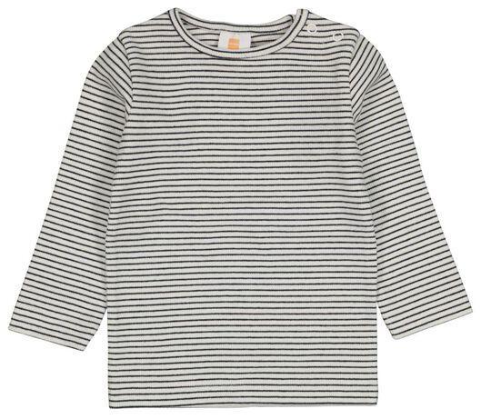 baby t-shirts rib - 2 stuks zwart zwart - 1000024507 - HEMA