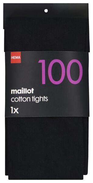 maillot katoen 100denier donkerblauw donkerblauw - 1000001198 - HEMA