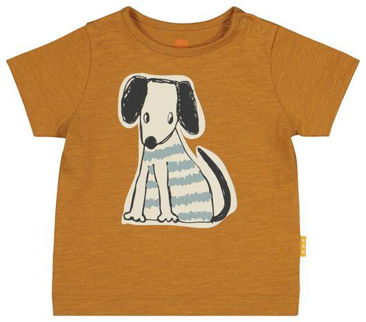 newborn t-shirt bruin bruin - 1000020346 - HEMA