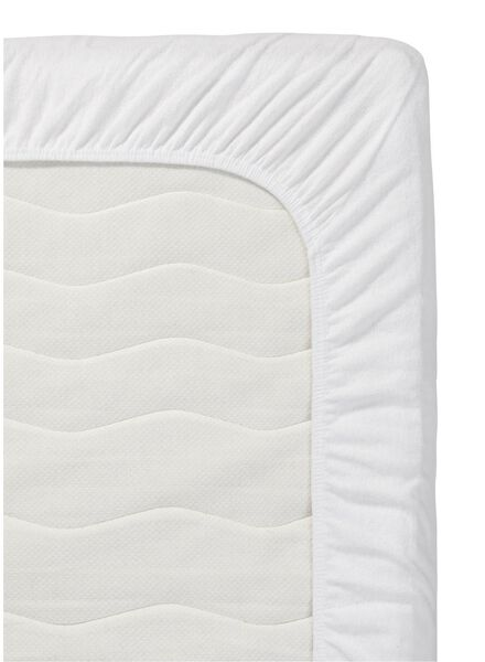 hoeslaken topmatras - jersey katoen - 180 x 200 cm - wit - 5140104 - HEMA