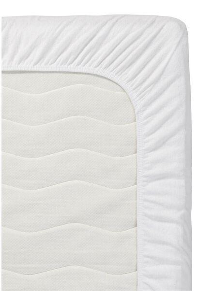 hoeslaken topmatras - jersey katoen - 160 x 200 cm - wit - 5140106 - HEMA