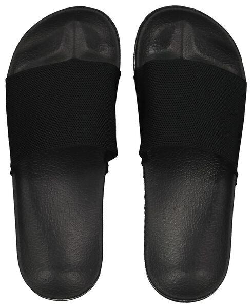 damesslippers zwart zwart - 1000018104 - HEMA