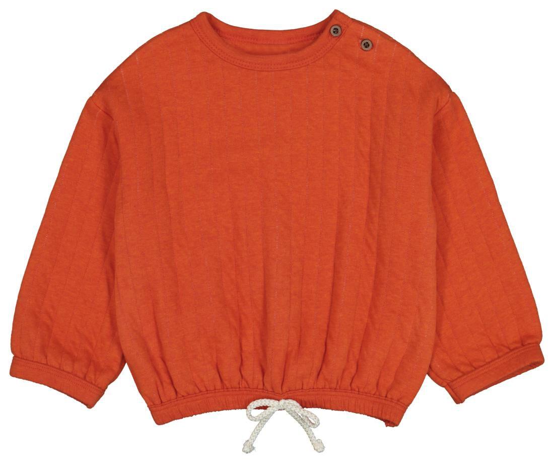 HEMA Babysweater Oranje (oranje)