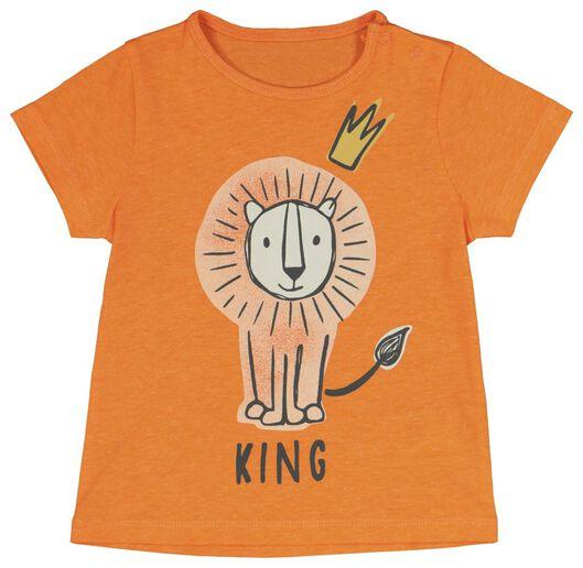 baby t-shirt oranje oranje - 1000019453 - HEMA