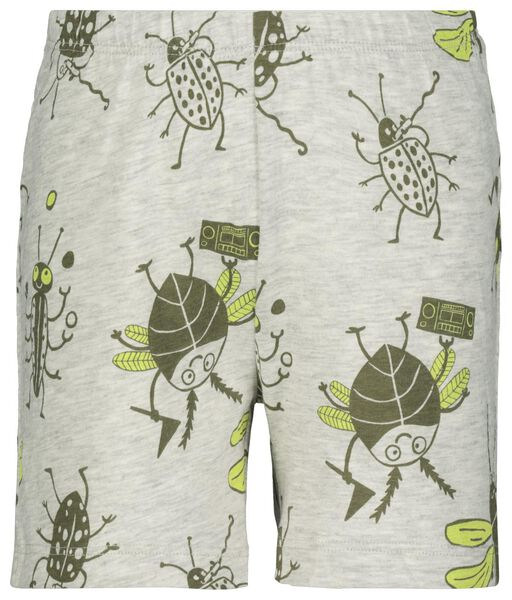 kindershortama insect glow in the dark groen 122/128 - 23010264 - HEMA