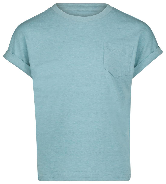 HEMA Kinder T-shirt Zeeblauw (zeeblauw)