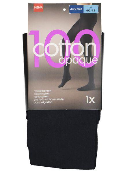 katoenen maillot 100 denier donkerblauw donkerblauw - 1000001198 - HEMA