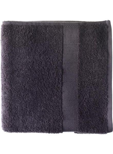 handdoek - 50 x 100 cm - zware kwaliteit - donkergrijs - 5212602 - HEMA