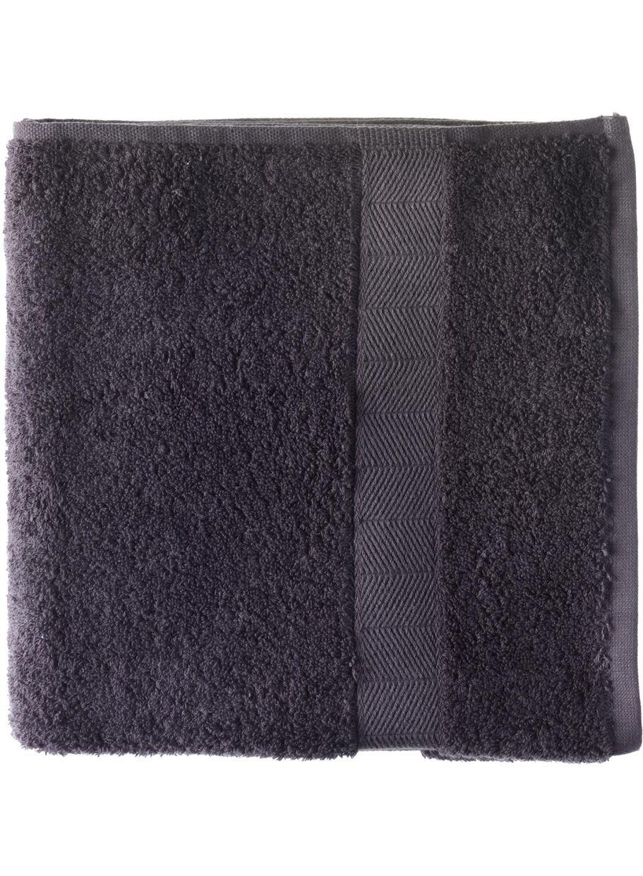 8486cfb55628f8 afbeeldingen handdoek - 60 x 110 cm - zware kwaliteit - donkergrijs -  5213602 - HEMA