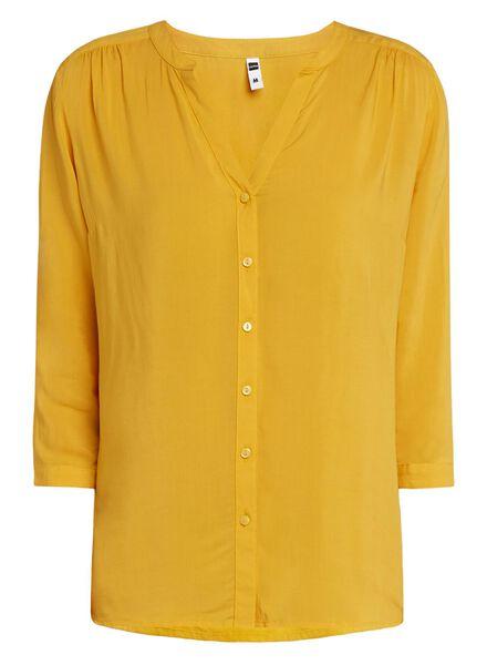 damesblouse geel geel - 1000011569 - HEMA