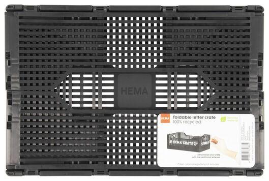 klapkratje letterbord recycled 20x30x11.5 - zwart zwart 20 x 30 x 11,5 - 39821034 - HEMA