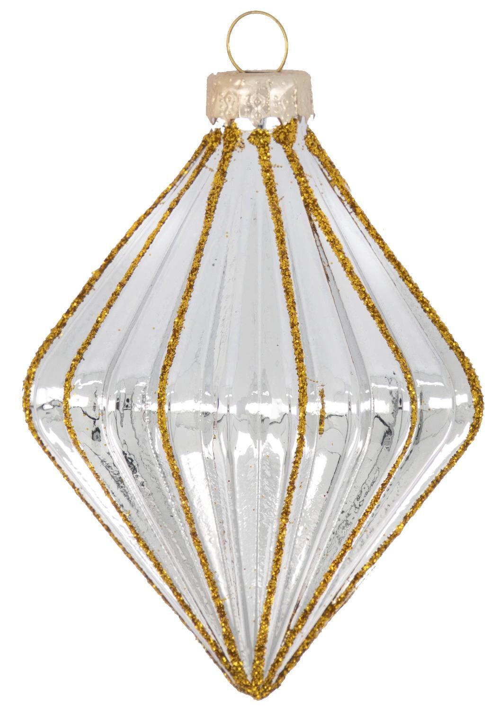 HEMA Kerstbal Glas 9 Cm Zilver Ribbels (zilver)