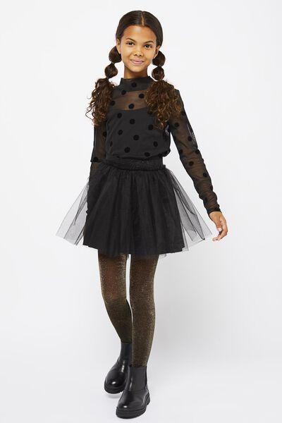 kinderrok met tule zwart zwart - 1000021632 - HEMA