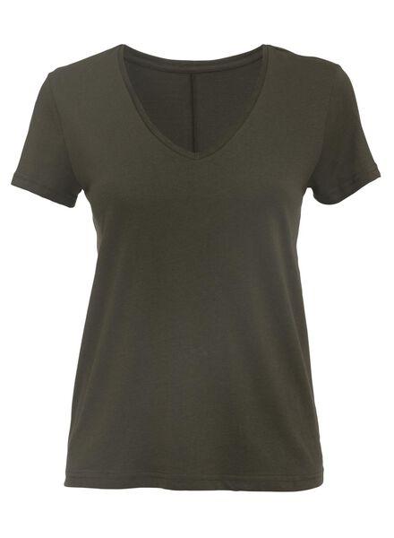 dames t-shirt olijf olijf - 1000007725 - HEMA