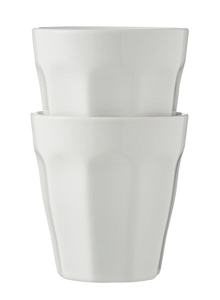 mokken - 90 ml - Mirabeau - wit - 2 stuks 9cl White - 9680041 - HEMA