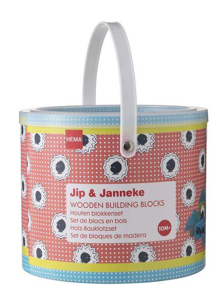 houten blokkenset Jip en Janneke - 15140011 - HEMA
