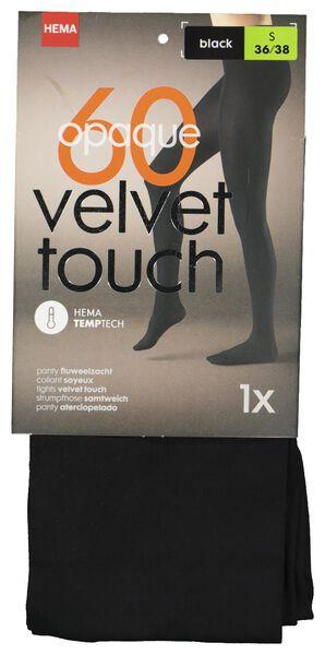 velvet temptech panty opaque 60 denier zwart zwart - 1000001189 - HEMA
