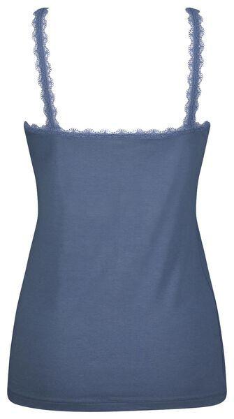 dameshemd kant middenblauw S - 19661062 - HEMA