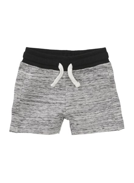 baby sweatshort zwart/wit zwart/wit - 1000004659 - HEMA