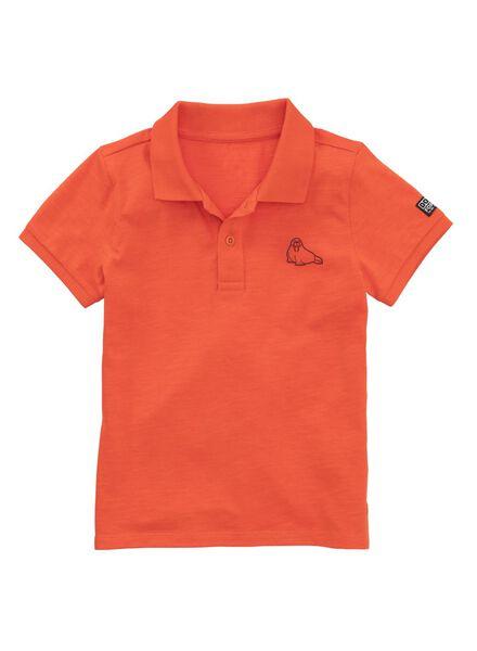 kinderpolo oranje oranje - 1000011700 - HEMA