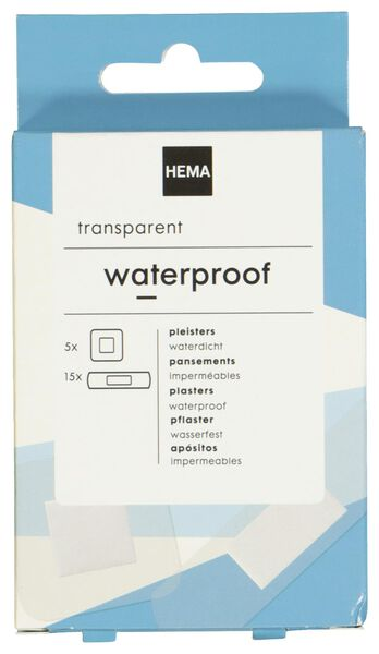 waterproof pleisters transparant - 11901902 - HEMA