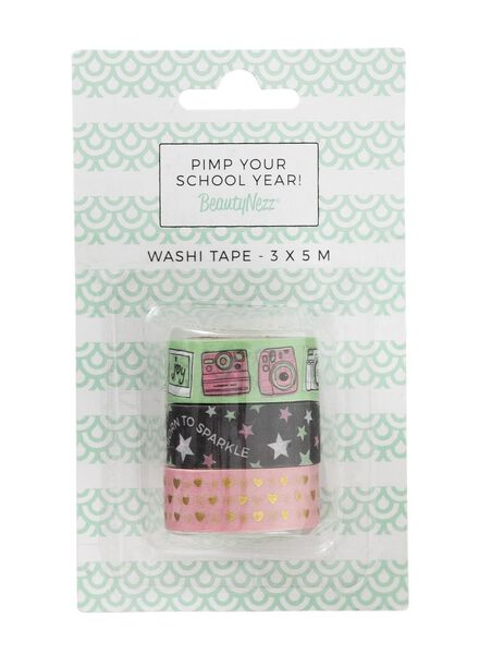 3-pak washi tape Beautynezz - 14920176 - HEMA
