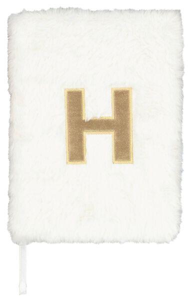 Notitieboek A5 fluffy letter H