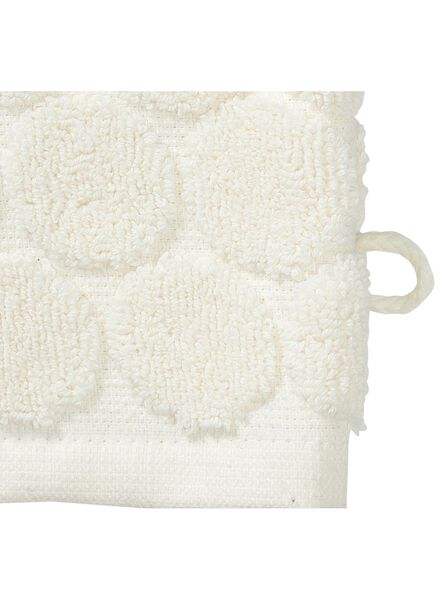 washand - zware kwaliteit - ecru stip ecru washandje - 5200069 - HEMA