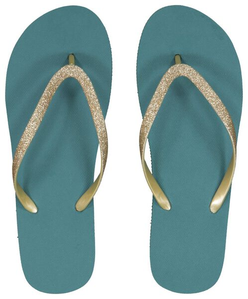 dames teenslippers stippen groen 37/38 - 34860046 - HEMA
