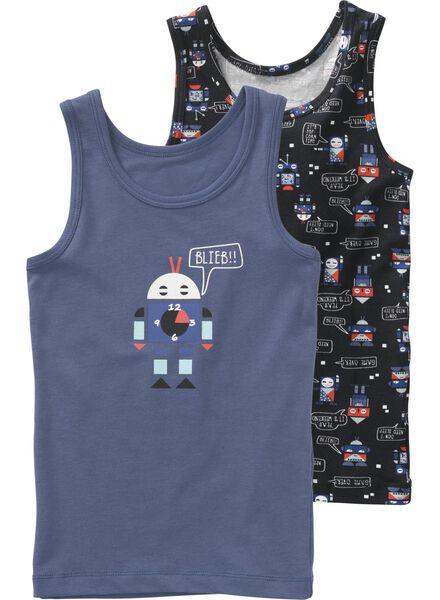 2-pak kinderhemden blauw blauw - 1000009249 - HEMA