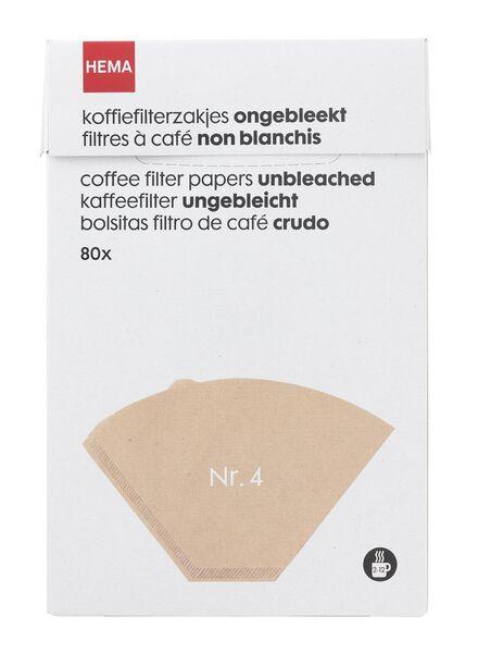 koffiefilterzakjes ongbleekt Nr. 4 - 20560203 - HEMA