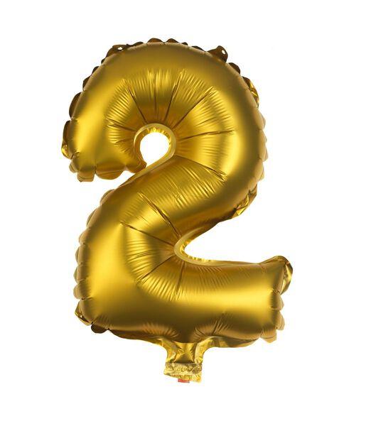 folie ballon 2 goud 2 - 14200267 - HEMA