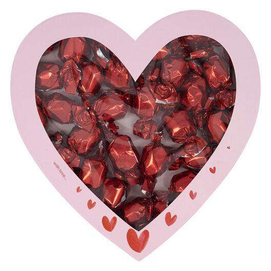 chocolade in hartvormige doos 350gram - 60900346 - HEMA