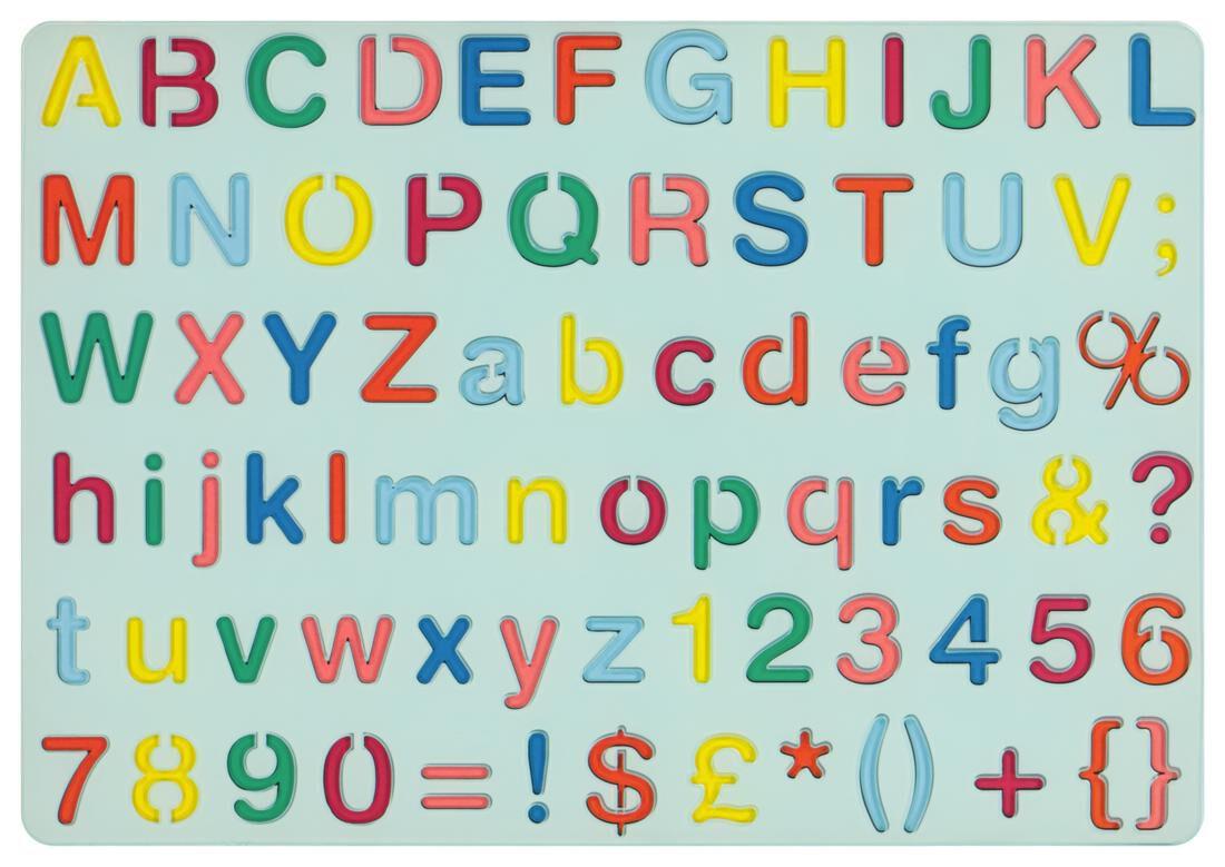 HEMA Tekensjabloon Letters Cijfers