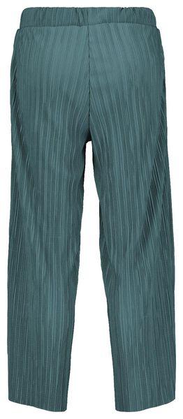 damesbroek plissé groen - 1000022066 - HEMA