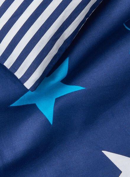 kinderdekbedovertrek - zacht katoen - 140 x 200 cm - blauw ster - 5700101 - HEMA