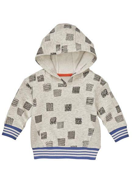 baby sweater grijsmelange grijsmelange - 1000008680 - HEMA